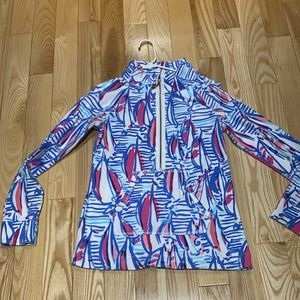 Lilly Pulitzer popover sz Small Red Right Return